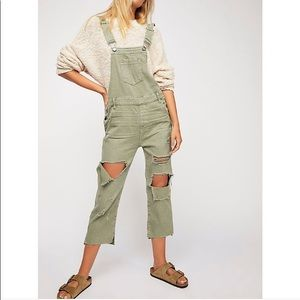 OneTeaspoon Hooligan Green Overalls Free People